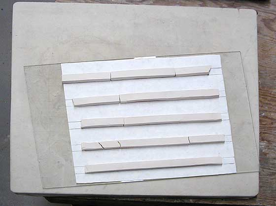 Fired clay strips