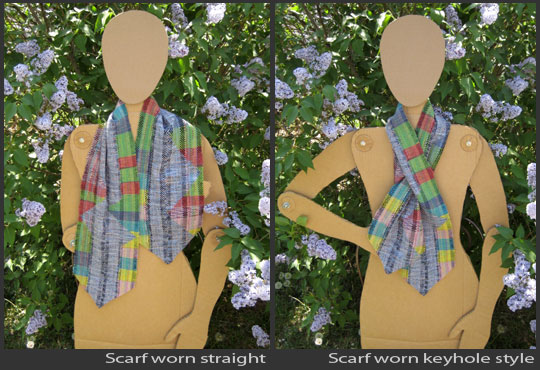 How to wear the scarves