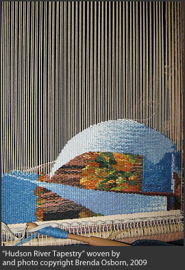 """Hudson River Tapestry"" woven by and photo copyright Brenda Osborn, 2009"