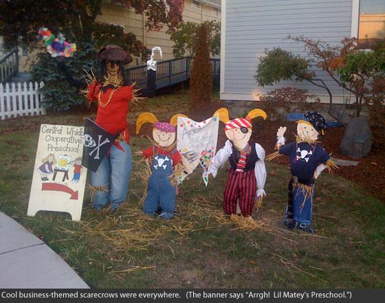Lil Matey's Preschool Scarecrows