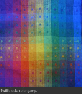 color gamp in twill blocks