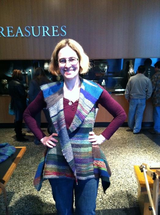 kimono fabric vest