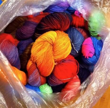 yarn for class, warp